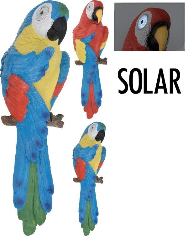 Solar papegaai met lichtgevende ogen